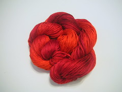 Sailor's Delight-bamboo yarn, hand dyed, hand painted, knitting