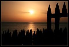Sunrise (masf) Tags: france water silhouette sunrise collioure digitalcameraclub flickrsbest grouptripod