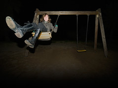 Swing Baby Swing! (Sator Arepo) Tags: smile night reflex boots action flash olympus swing lowkey angular zuiko e500 zd uro 714mm zd714mm anawesomeshot 714mmed fl50r retofz080806 gettyholidays2010