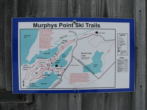 Murphys Point ski trail map