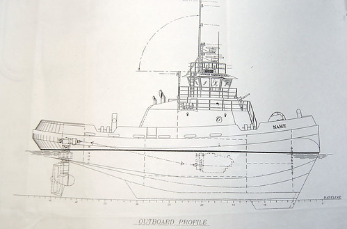 Tugboat Marshall Foss Blueprint