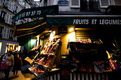 Fruits et Legumes (photo.klick) Tags: paris shop fruit evening stand store vegetable fresh photoblog produce legume katsingercom