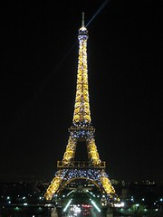 Eiffel Tower at Nite (Sir Francis Canker Photography ) Tags: christmas xmas trip travel bridge mars paris france tower tourism rio seine night river puente navidad noche europe exposure torre tour nacht riviere champs landmark eiffel visit noel icon montmartre tourist ponte beam nocturna pont visiting natale trocadero montparnasse francia nuit bastille defense parijs ecole militaire champ parigi  gustave sena marceau lucena  denfert kulesi arenzano  eyfel    ured  sirfranciscankerjones      pacocabezalopez