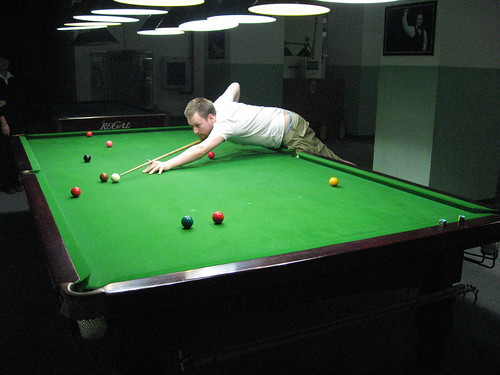 I won my first snooker game (Adam pictured)