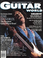 GW cover Vol. 6, No. 5 SEPTEMBER, 1985 SPECIAL JIMI HENDRIX TRIBUTE! (Doctor Noe) Tags: fender hendrix jimi jimihendrix stratocaster guitarworld billygibbons pinkstratocaster