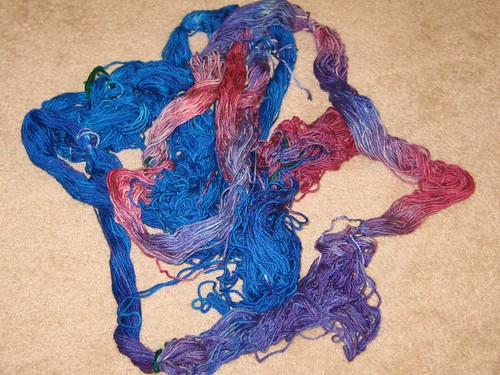 Jo's yarn before