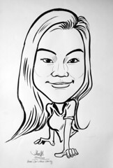 caricature ink girl 230408
