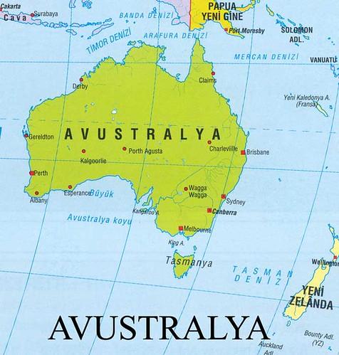 Avustralya siyasi haritası