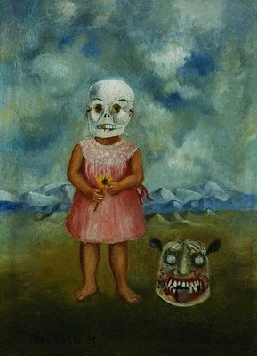 frida-kahlo-she-plays-alone-or-girl-with-death-mask-1940