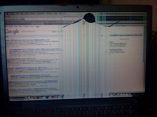 Broken Macbook Pro LCD Screen