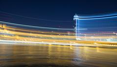 Vauxhall Impression I (James_Beard) Tags: vauxhall stgeorgewharf sis mi6 millbank blue hour intentionalcameramovement icm blurred longexposure canon6d canon24105 lights panning light trails lighttrails