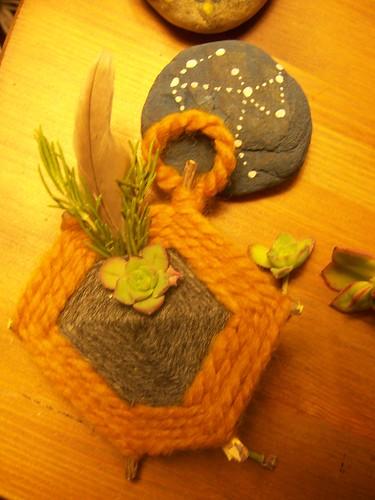 more twig + yarn craftiness