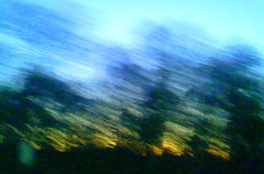 Something a little different for me.... (Peachhead (5,000,000 views!)) Tags: trees sunset blur art silhouette evening blurry twilight highway colorful driving pennsylvania cellphone pa poconos backseat snydersvillepa monroecounty poconomountains pa33