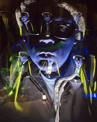 A Blend Of Blue!!! (Tribal Nick!) Tags: blue lightpainting art face canon paint gallery contemporary surrealism flash fineart creative surreal award creation artbrut bluemangroup cannonphotography lensaward