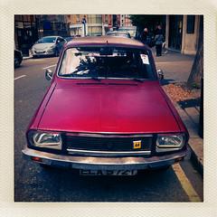 Renault 12 estate in Pimlico (Miles Davis (Smiley)) Tags: square 1970s sq ip iphone renault12