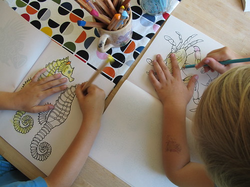 unplugged sunday:  coloring