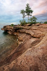 Rock Peninsula (photography.liam) Tags: trees lake tree water rock wisconsin canon lens angle south wide superior shore mm peninsula wi 1022mm 1022 madelineisland