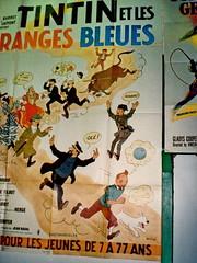 Tintin, an old movie: oranges bleues - photo Goria - click