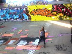 IMG_0329 (Claudiagicel :)) Tags: art girl river happy graffiti la meeting styles seco arroyo losangelesriver meetingofstyles claudiagicel