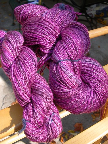 merino-tencel sock yarn