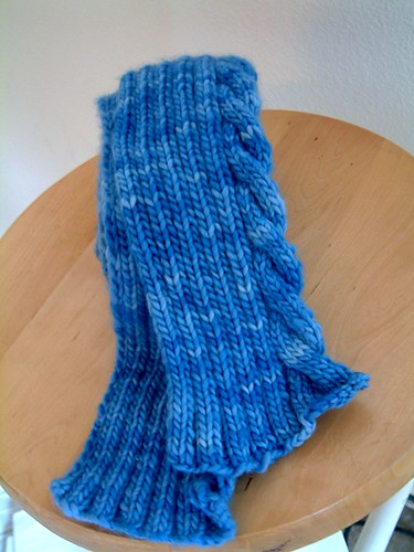 One Cable Scarf- Done