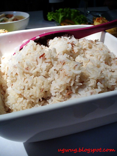 Rice with bits of Red Thai Rice