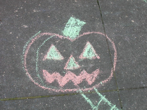 chalk pumpkin
