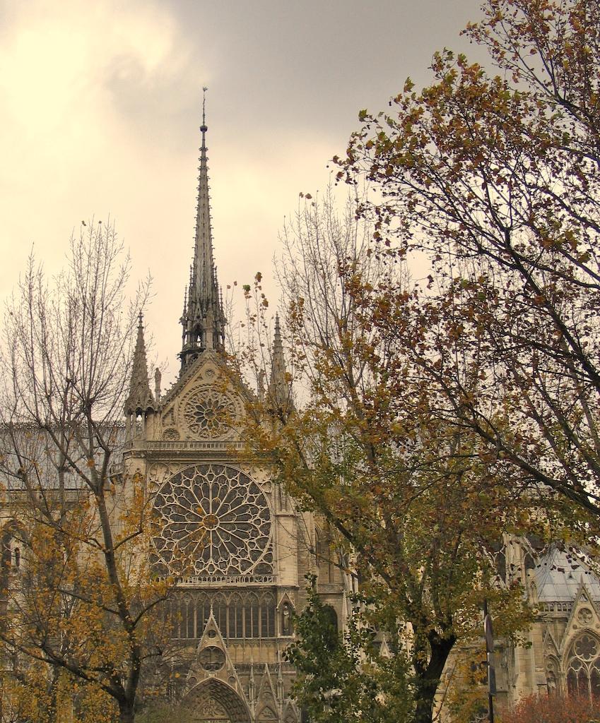 Vitral em Notre Dame, Paris