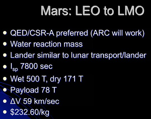 description of Mars Bussard fusion vehicle