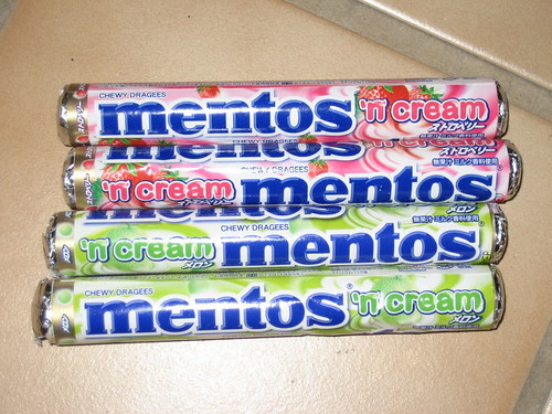 New 'n cream mentos flavors | Flickr - Photo Sharing!