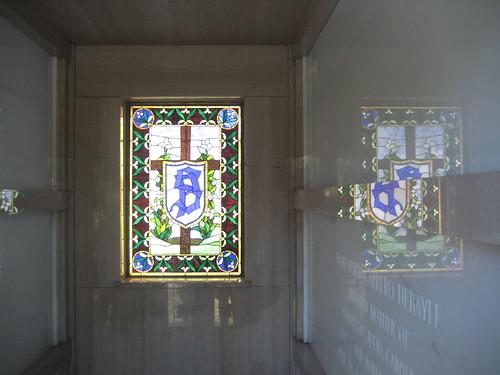 Interior of Somoza's tomb.