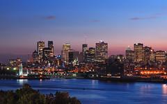 dusk on Montreal Island HDR* (David Giral | davidgiralphoto.com) Tags: blue lighthouse canada david skyline night river lights nikon long exposure quebec dusk montreal hour stlawrence d200 stlaurent giral nikond200 18200mmf3556gvr holidaysvacanzeurlaub