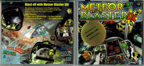Meteor Blaster DX Signature Edition Front and Back Jewel Case