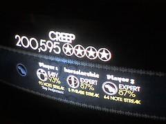 Creep (alist) Tags: cambridge alist videogame cambridgemass rockband score cambridgema alicerobison ajrobison