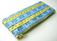 Blue and Yellow Measuring Tape Case