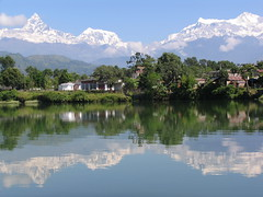 Pokhara Nepal (craigkass) Tags: nepal mountains trekking lakes peaks himalaya pokhara phewa annapurna phewalake machhapuchhre