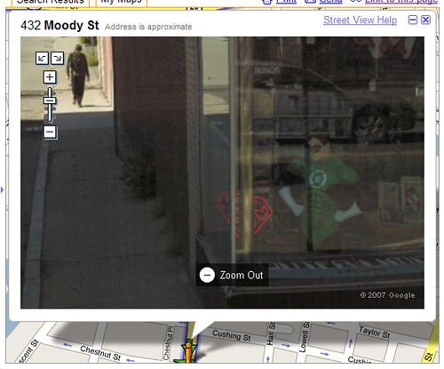 Green Hornet nabbed in Street View