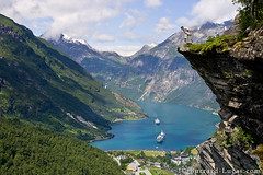 Geiranger, Norway (Burrard-Lucas Wildlife Photography) Tags: cruise portrait cliff selfportrait mountains me norway self landscape ship fjord geiranger geirangerfjord