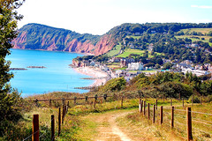 Down to Sidmouth (Maskedmarble) Tags: sea holiday landscape coast devon sidmouth