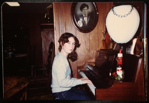 Christmas 1982, at the Piano