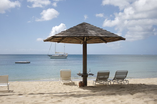 Playa privadad del Resort Curtain Bluff