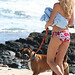 Nanea and Puni at  Alan Davis beach