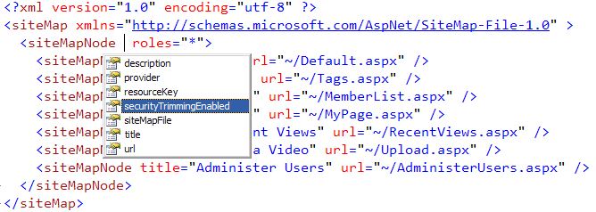 Sitemap data source control with sitemap provider in asp net c#.