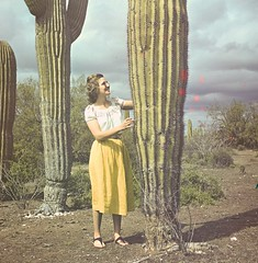 Mother and cactus