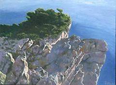 Capo Caccia (cicipeis) Tags: sardegna cliff costa mountain art marina mare sardinia arte natura quadro cielo luci rocce luce cici paesaggio artista olio alghero dipinto pittore peis guspini cicipeis