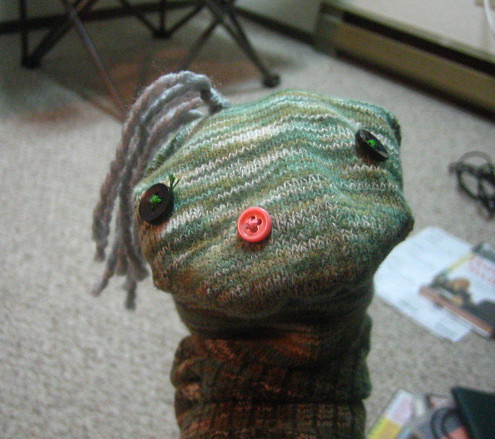 Sock puppet via Pinprick on flickr