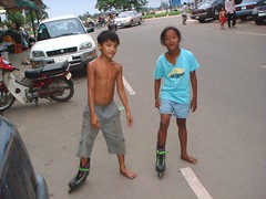 Togetherness (Khmer Mekong Films) (kmfblog) Tags: family girls boy boys girl children cambodia cambodian khmer child families young roller phnompenh blade rollerblade rollerblades blades phnom penh kmfblog