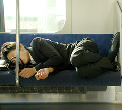 Early One Morning (amirjina) Tags: party japan drunk train shinjuku nap sleep hangover commute amir snooze  vis enkai shonan salaryman allnighter jina  salariman    amirjina