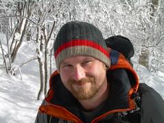 Will Cornett hiking near Siler's Bald