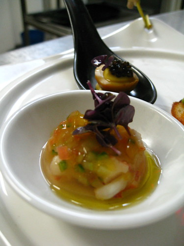 lobster/tomato water jelly